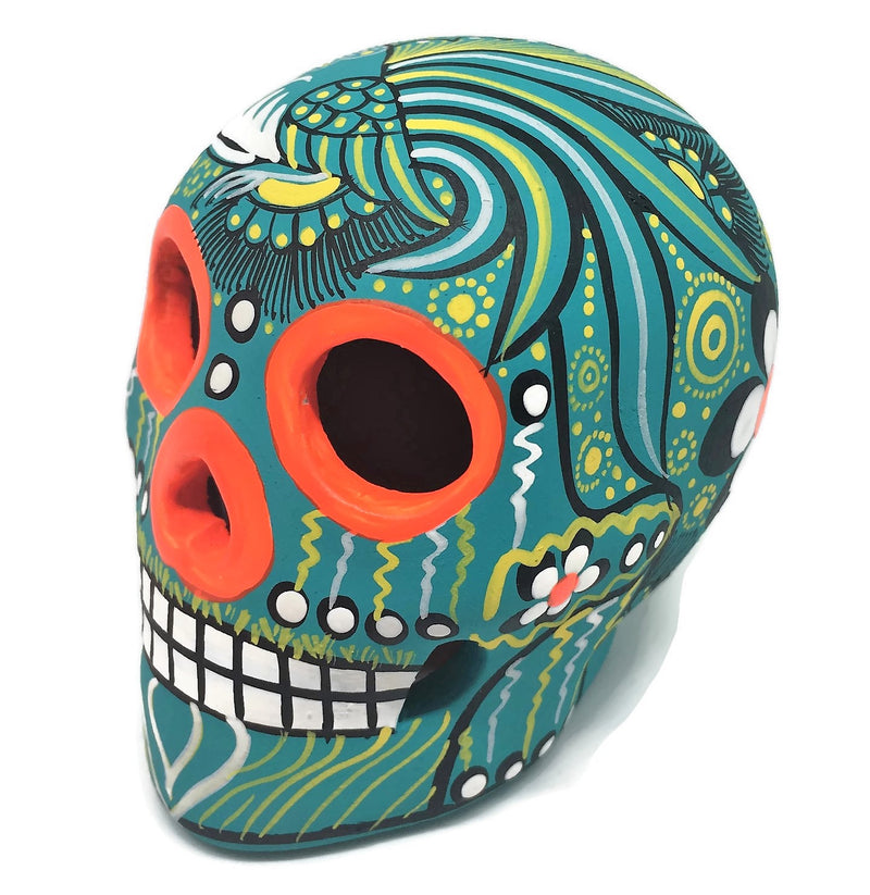 "3.75"" Medium Mint Bird Ceramic Calavera, Matte (ships in 2-8 weeks)"
