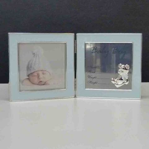 HINGED RECORD FRAME BABY BOY