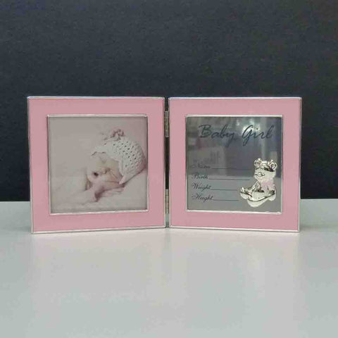 HINGED RECORD FRAME BABY GIRL