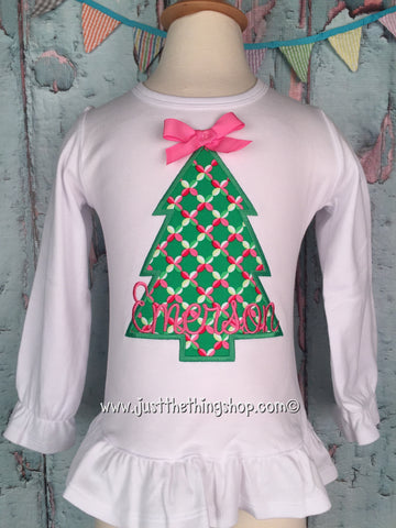 Cookie Cutter Christmas Tree Girls Shirt - Just The Thing Shop