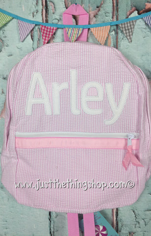 Applique Name Jayden Font Backpack - Just The Thing Shop