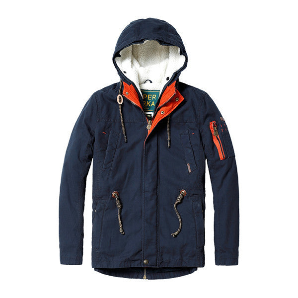 The Super Parka Winter Jacket-jacket-SIMWOOD-dark royalblue-L-Venture Modern