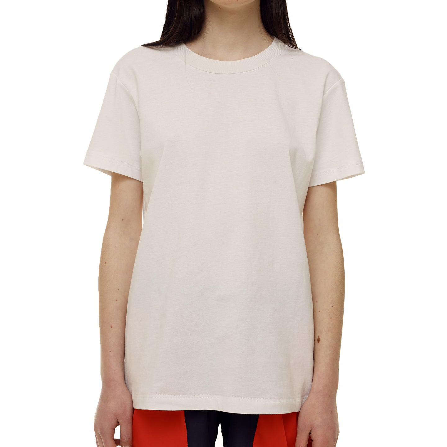 White Cotton T-shirt - krawaii.com