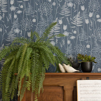 Charlotte's Garden wallpaper in Inkwell