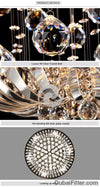 Round Modern Crystal Ceiling Lamp Luxury Living Room Led Ceiling Light Fixtures Ac110-240V Lustres De Cristal