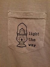 "Adult Khaki ""Light the Way"" Pocket T-Shirt"