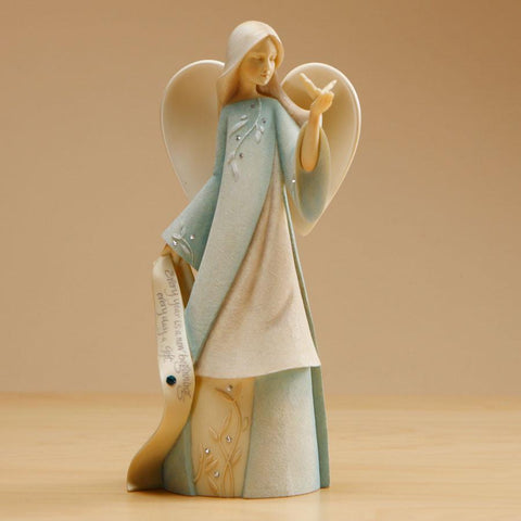 "Foundations ""March"" Birthstone Angel"