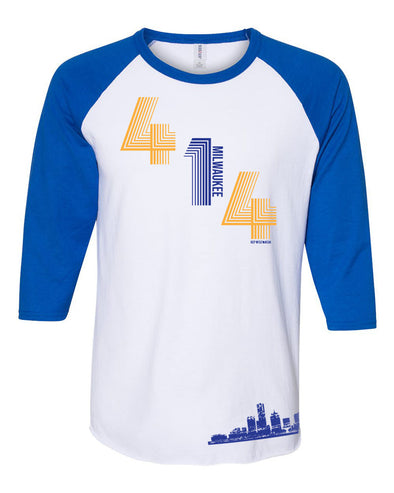 414 Baseball Tee (Royal Blue)