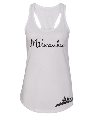 Milwaukee, WI ladies Tank (White)