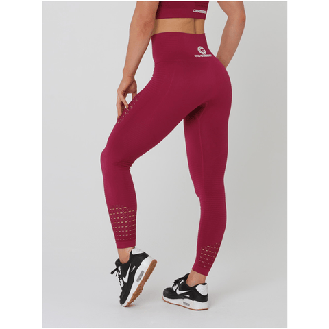Aurora Tights - Red by Obsessed Gymwear | MAK Fitness