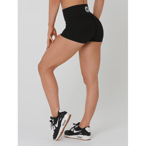 Scrunch Booty Shorts - Black