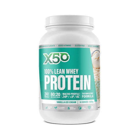 100% Lean Whey Protein by X50 | MAK Fitness