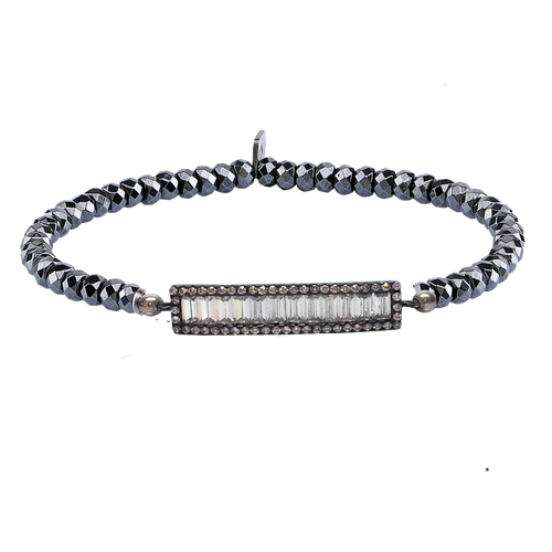 BAQUETTE BAR STRETCH BRACELET