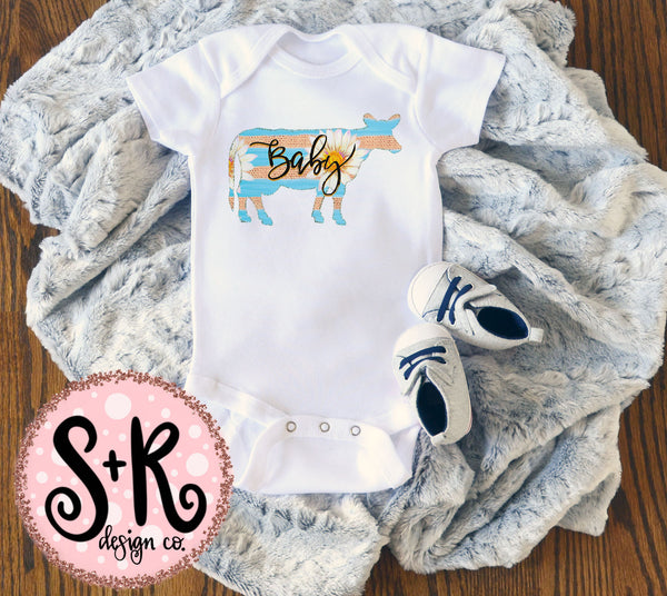 Baby Daisy Cow Sublimation/Printable PNG Design (2019)