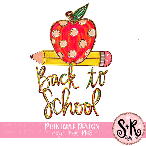 Back to School Sublimation Design (2019)