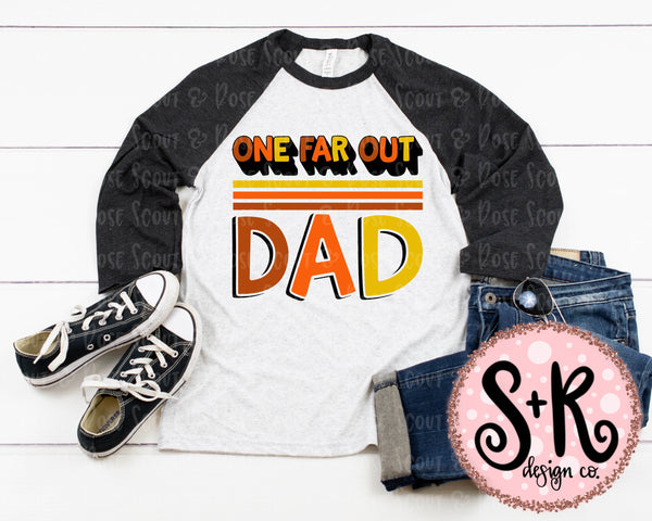 One Far Out Dad (70s) SVG DXF PNG (2019)
