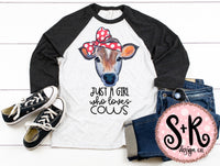 Girl Who Loves Cows Sublimation/Printable PNG Design (2019)