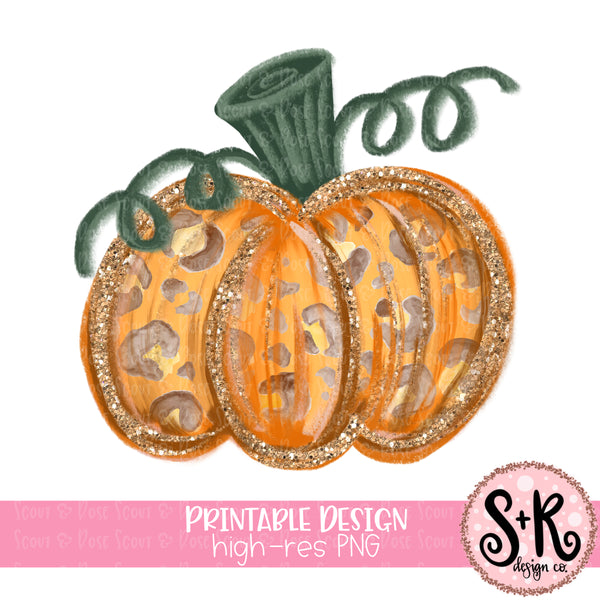 Glitter Pumpkin Sublimation Design (2019)