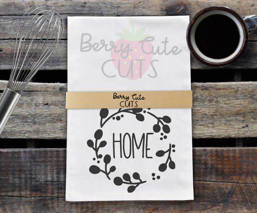 Home Tea Towel Design Cut File