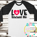 Love Rescued Me SVG DXF PNG
