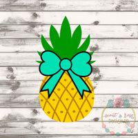 Pineapple Bow SVG DXF PNG