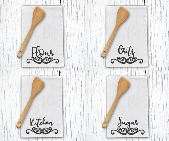 Kitchen Tea Towel Set Cut File
