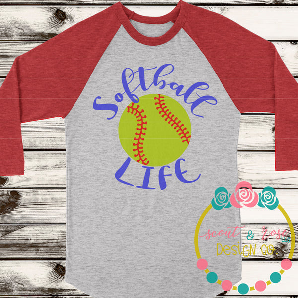 Softball Life SVG DXF PNG