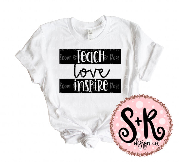 Teach Love Inspire SVG DXF PNG (2019)