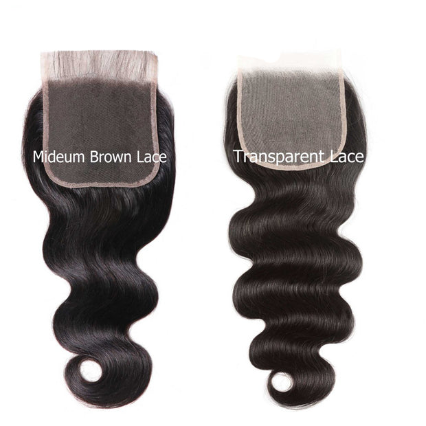 Sunber Hair Body Wave 5X5 Transparent Lace Closure 8-18 inch 100% Human Remy Hair HD Closure