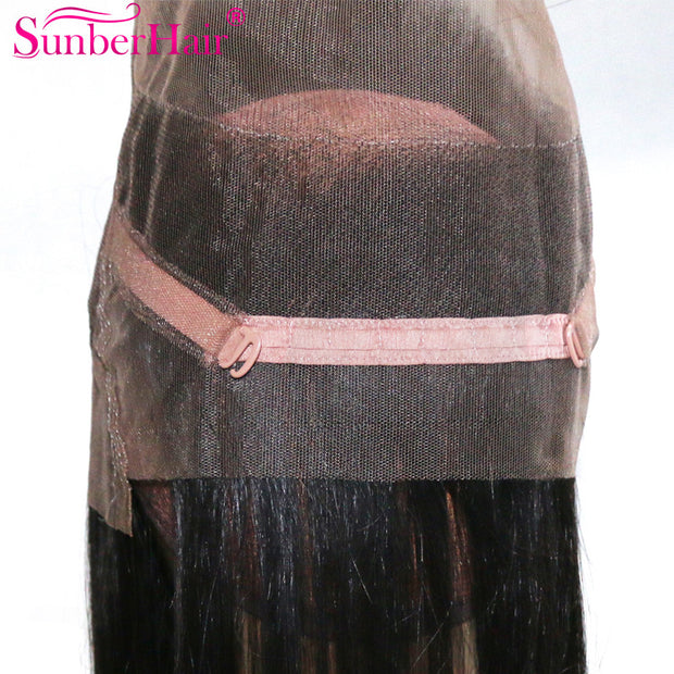 "Virgin Straight Hair 360 Lace Frontal Closure, Malaysian/Brazilian/Peruvian Hair, 10""-20"" in stocks - Sunberhair"