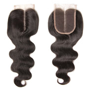 1pcs 4*4 Lace Closure Body Wave Hairstyle, Three/Middle/Free Part, Peruvian/Malaysian/Brazilian Hair - Sunberhair