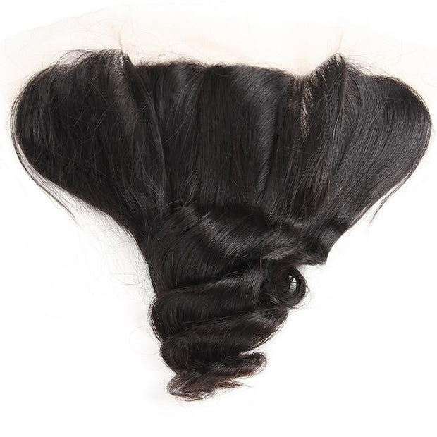 Brazilian Hair Loose Wave 3 Bundles with Lace Frontal, 100% Human Hair Ear to Ear Lace Frontal Closure - Sunberhair