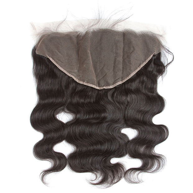 Body Wave Pre Plucked Ear to Ear 13*6 Lace Frontal Closure With Baby Hair Free Part 10-18inch