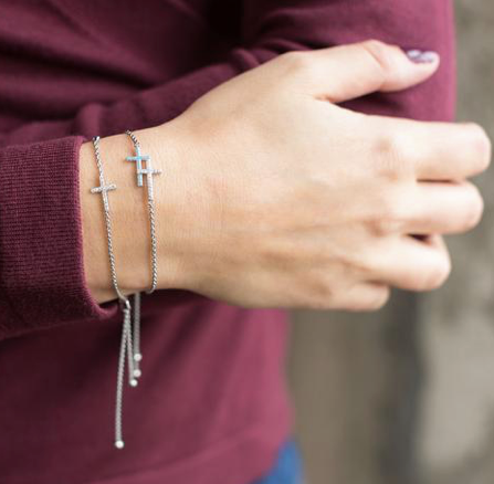SILVER FAITH & FRIENDSHIP BRACELET
