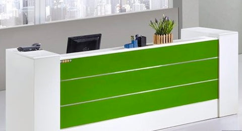 YF Reception Desk with Locking Storage Cabinets