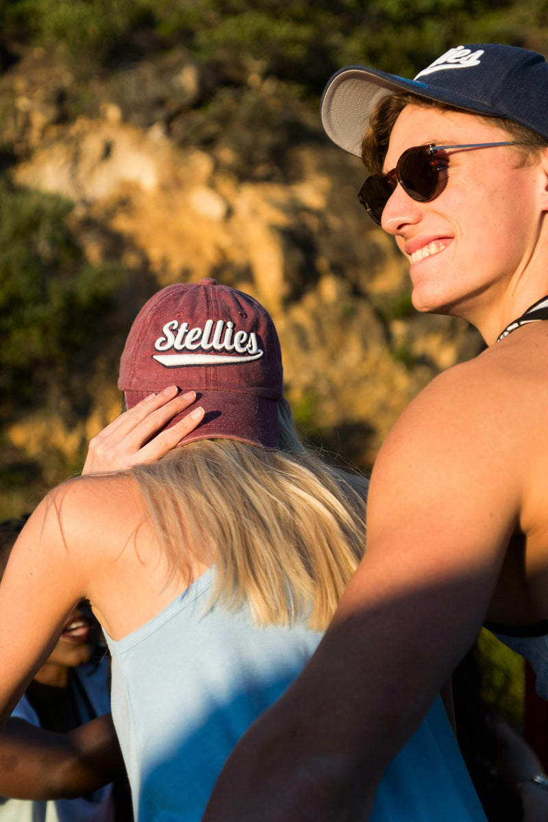 Stone-Washed Dad Cap in Maroon