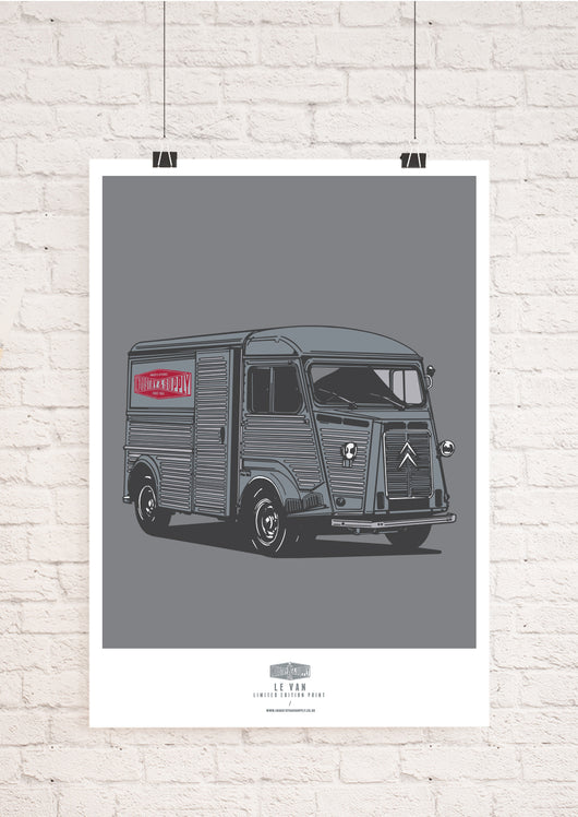 LIMITED EDITION CITROEN H VAN ART PRINT