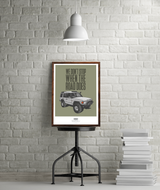 """WE DON'T STOP"" LAND ROVER DISCOVERY ONE ART PRINT"