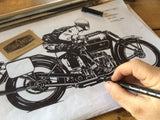 Henderson Motorcycle Draw