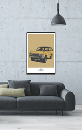 LIMITED EDITION RANGE ROVER CLASSIC ART PRINT