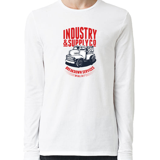 Ford C.O.E. Breakdown Services Industry & Supply Utility White Long Sleeve Shirt