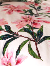 Pink peonies single quilt