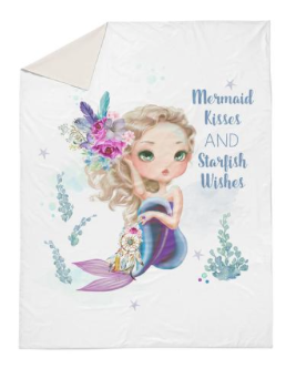 Lilac mermaid double quilt cover