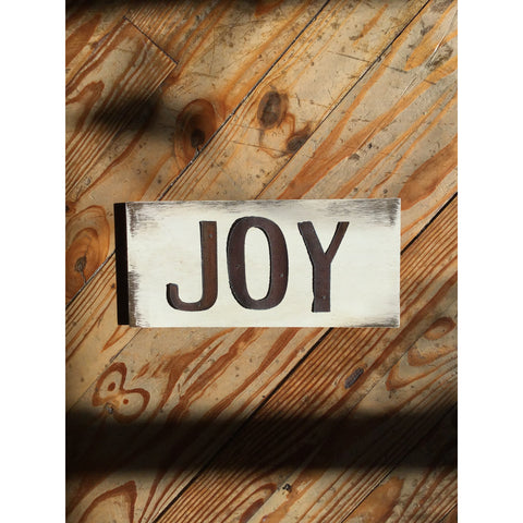 Copy of Handmade Reclaimed Barn Tin Joy Sign