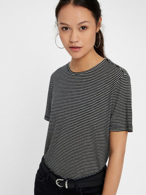 SUPER SOFT LYOCELL STRIPED T-SHIRT
