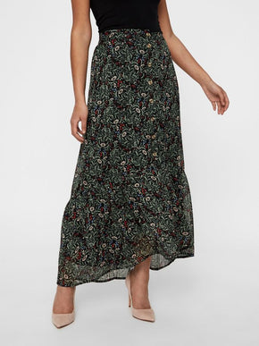 FLORAL ANKLE SKIRT