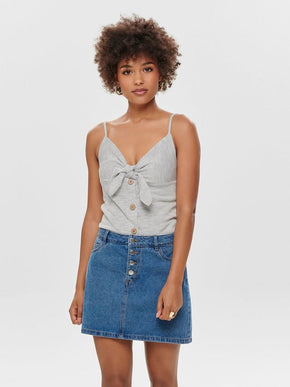 SHORT RIBBED CAMI WITH KNOT