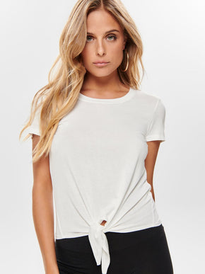 SOFT T-SHIRT WITH KNOT DETAIL
