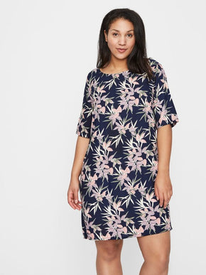 STRAIGHT FIT PRINTED DRESS