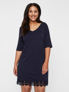 JERSEY DRESS WITH 3/4 SLEEVES